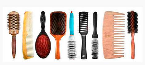 the hair of hair brushes