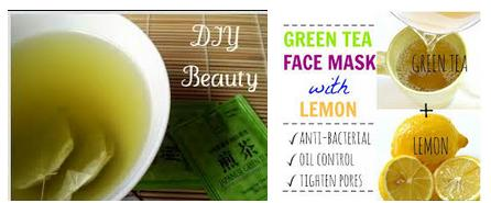 Green tea and sugar face mask