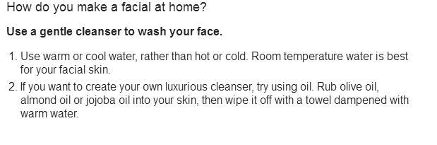 How do you make a facial at home
